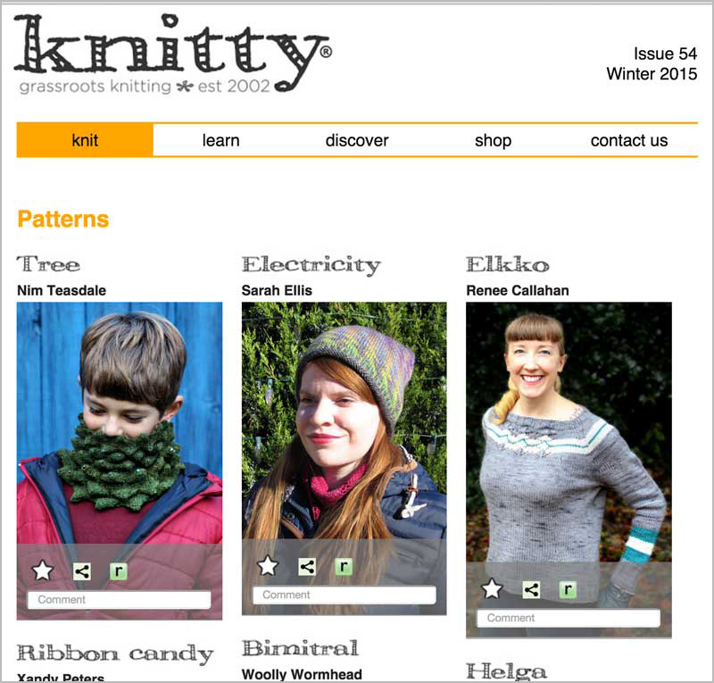Knitty.com Redesign